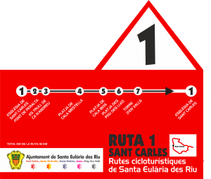 ruta 1. ciclismo Ibiza